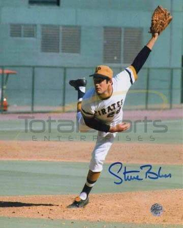 Steve Blass Signed Pitching 8x10 Photo