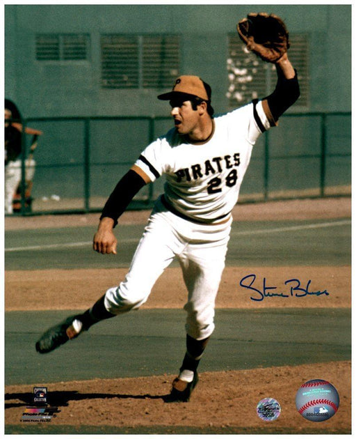 Steve Blass Signed Pitching with Glove Up 8x10 Photo