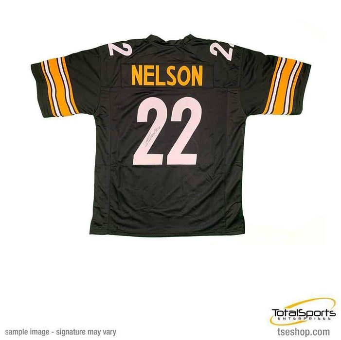 Steven Nelson Signed Custom Black Jersey