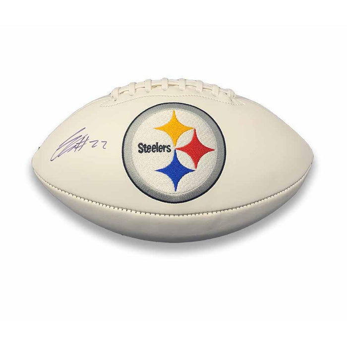 Steven Nelson Signed Pittsburgh Steelers White Logo Football
