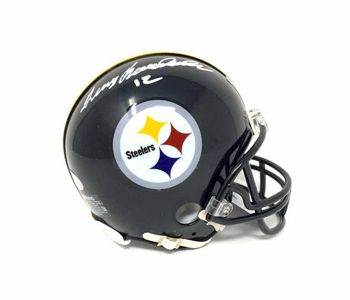 Terry Bradshaw Autographed Pittsburgh Steelers Black Mini Helmet