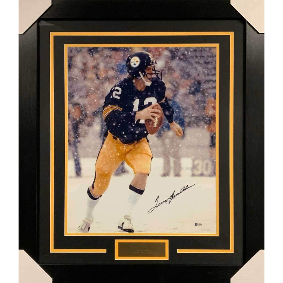 7c23fce6f Terry Bradshaw Signed in Snow 16x20 Photo - Professionally Framed Default  Title