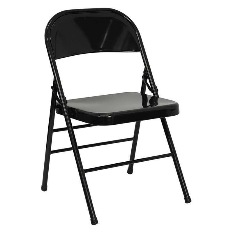 THE BAR DUAL Signed Black Folding Chair