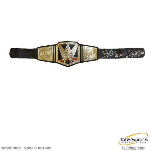 THE BAR DUAL Signed Replica WWE Hasbro Championship Belt (As Is)