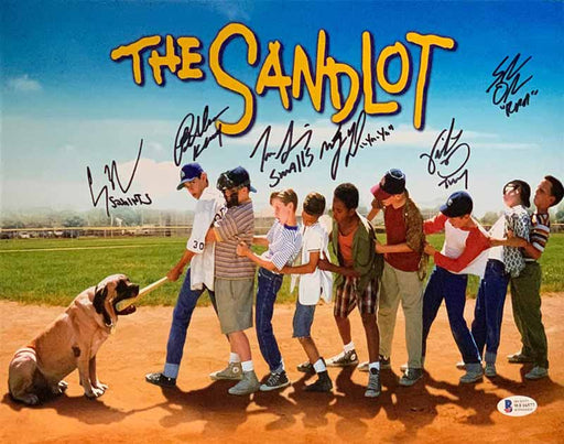 The Sandlot Cast Signed Horizontal Movie Poster 11x14 Photo