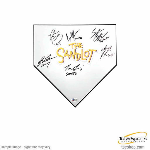 The Sandlot Cast Signed Mini Homeplate