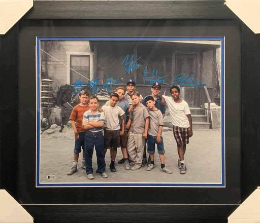 The Sandlot Cast Signed Spotlight Horizontal 16x20 Photo - Professionally Framed