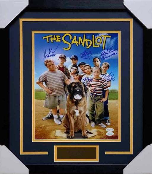 The Sandlot Cast Signed Vertical 11x14 Movie Photo - Professionally Framed