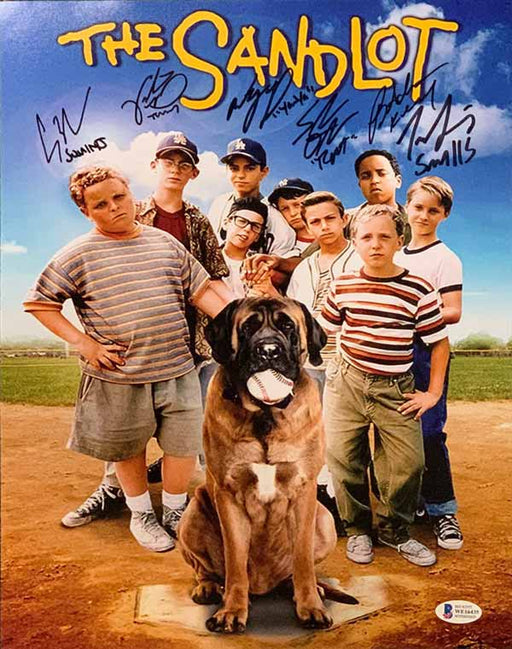 The Sandlot Cast Signed Vertical Movie Poster 11x14 Photo