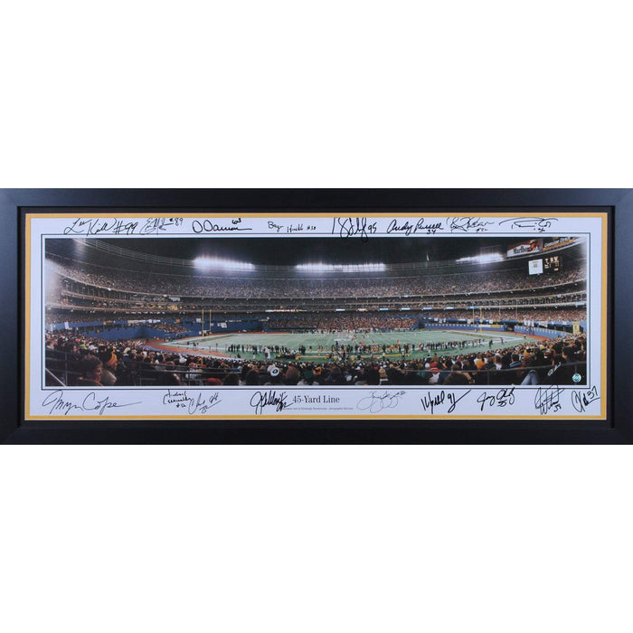 Three River Stadium Inaugural Game Pano - Multi Signed - Professionally Framed