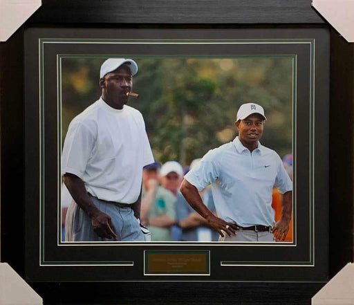 Tiger Woods and Michael Jordan Golfing Unsigned 16x20 Photo - Professionally Framed