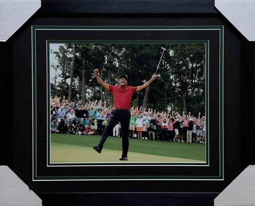 Tiger Woods Celebrating 2019 Masters 11X14 Photo - Professionally Framed - DAMAGED