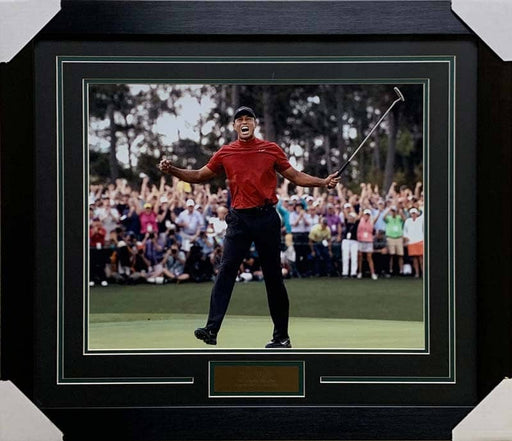 Tiger Woods Unsigned 2019 Masters Celebration 16X20 Photo - Professionally Framed