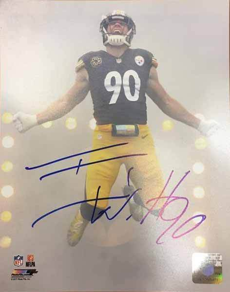 TJ Watt Signed 16x20 Photo