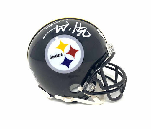 TJ Watt Signed Pittsburgh Steelers Black Mini Helmet