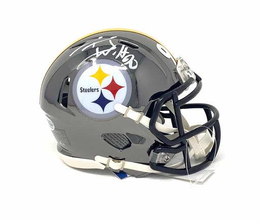 TJ Watt Signed Pittsburgh Steelers Chrome Mini Helmet