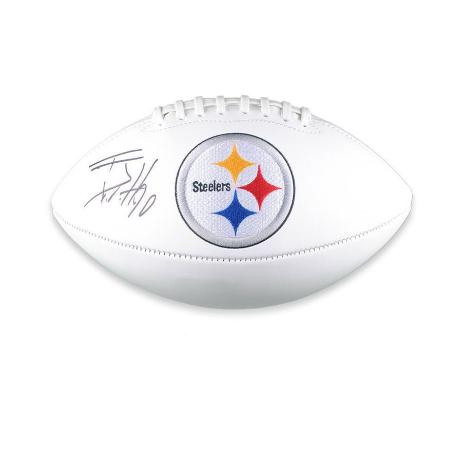 TJ Watt Signed Pittsburgh Steelers White Logo Football