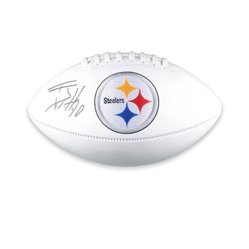 Tj Watt Signed Pittsburgh Steelers White Logo Football - DAMAGED