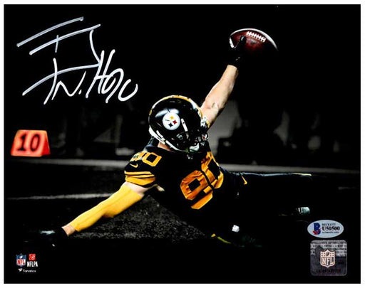 Tj Watt Signed Sliding Spotlight 16X20 Photo - DAMAGED