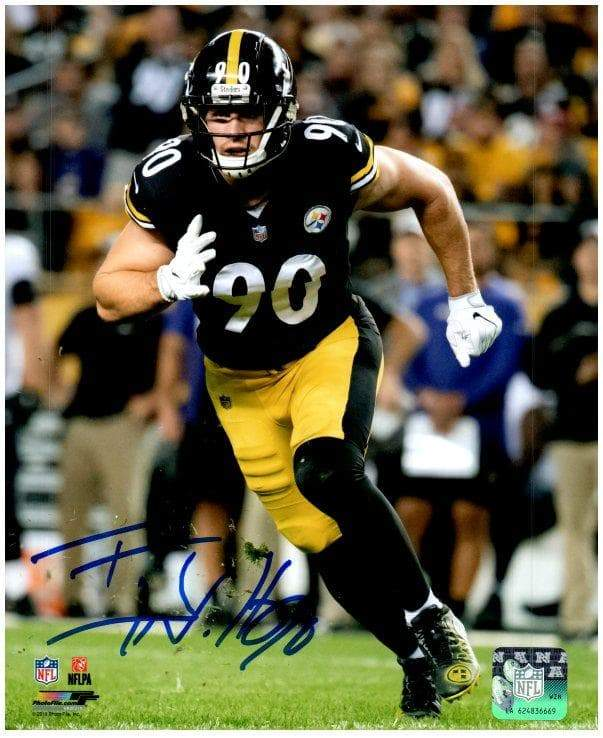 TJ Watt Signed Taking Off in Black 8x10 Photo