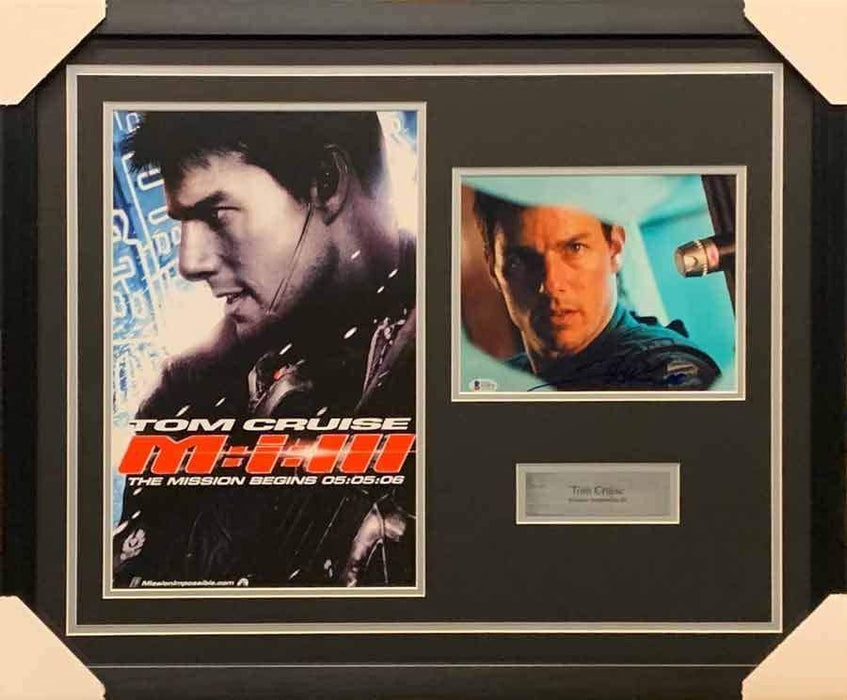 Tom Cruise Signed Staring 8x10 Photo with Mission Impossible III Movie 11x17 Poster