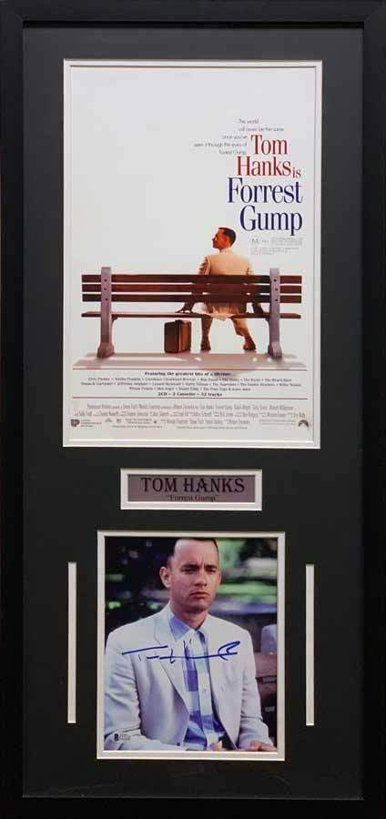 Tom Hanks Signed 8x10 with 11x17 Forrest Gump Movie Poster - Professionally  Framed