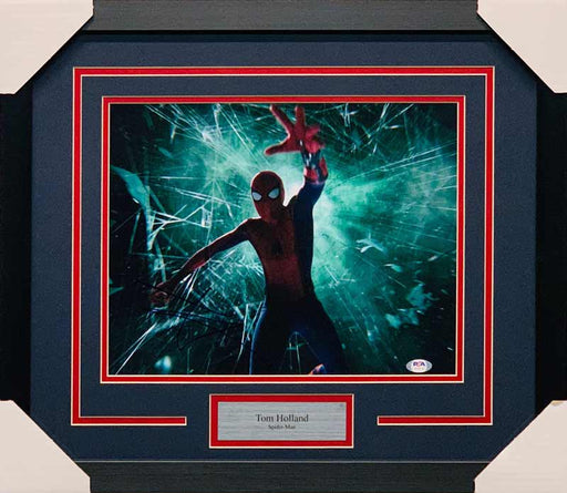 Tom Holland Signed Spiderman Explosion 11x14 Photo - Professionally Framed