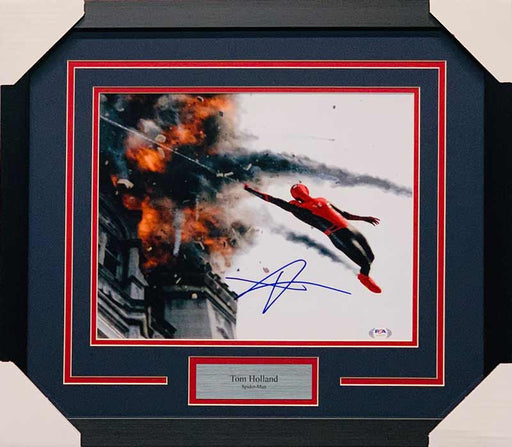 Tom Holland Signed Webbing from Fire 11x14 Photo - Professionally Framed