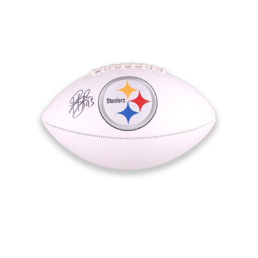Troy Polamalu Autographed Steelers White Logo Football