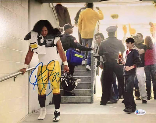 Troy Polamalu Signed Coke Commercial Remake 11x14 Photo