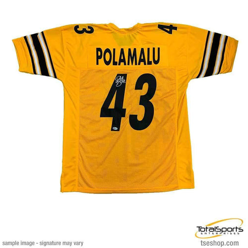 Troy Polamalu Signed Custom Reverse Jersey
