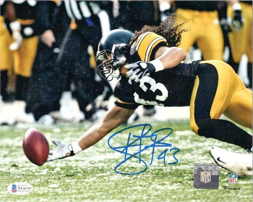 Troy Polamalu Signed Fingertip Interception 16X20 Photo