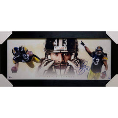 Troy Polamalu Signed Limited Edition Panoramic - Professionally Framed