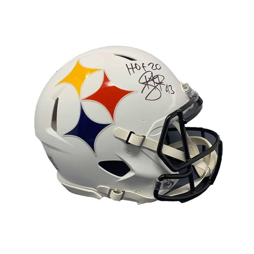 Troy Polamalu Signed Pittsburgh Steelers AMP SPEED Authentic Helmet with HOF 20