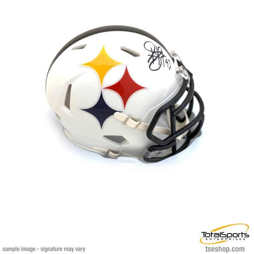Troy Polamalu Signed Pittsburgh Steelers AMP SPEED Mini Helmet