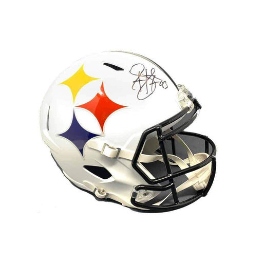 Troy Polamalu Signed Pittsburgh Steelers AMP SPEED Replica Helmet