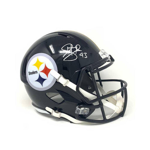 Troy Polamalu Signed Pittsburgh Steelers Black Full Size Authentic SPEED Helmet