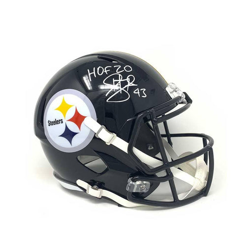Troy Polamalu Signed Pittsburgh Steelers Black Full Size Authentic SPEED Helmet with HOF 20