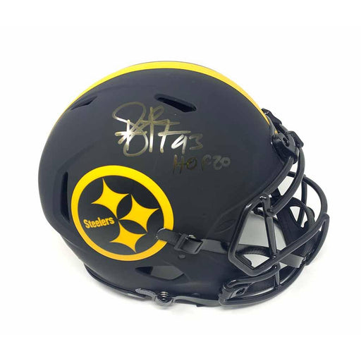Troy Polamalu Signed Pittsburgh Steelers ECLIPSE SPEED Authentic Helmet with HOF 20 - REDUCED