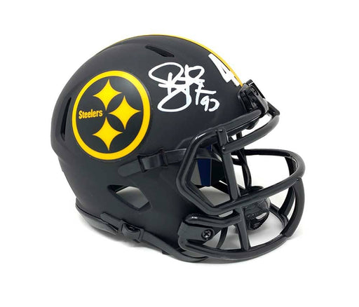 Troy Polamalu Signed Pittsburgh Steelers ECLIPSE SPEED Mini Helmet