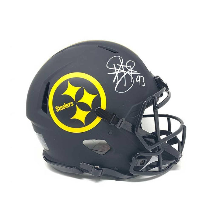 Troy Polamalu Signed Pittsburgh Steelers ECLIPSE SPEED Replica Helmet