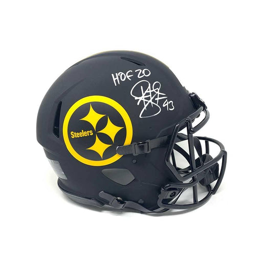 Troy Polamalu Signed Pittsburgh Steelers ECLIPSE SPEED Replica Helmet with HOF 20