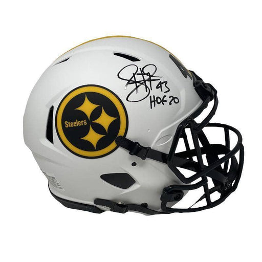 Troy Polamalu Signed Pittsburgh Steelers Lunar Eclipse Speed Authentic Helmet With Hof 20