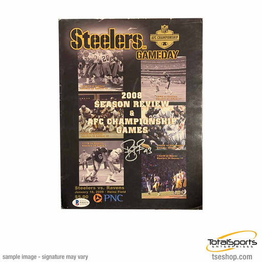 Troy Polamalu Signed Steelers Ganeday Program