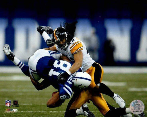 Troy Polamalu Tackling Colts Unsigned Licensed 8x10