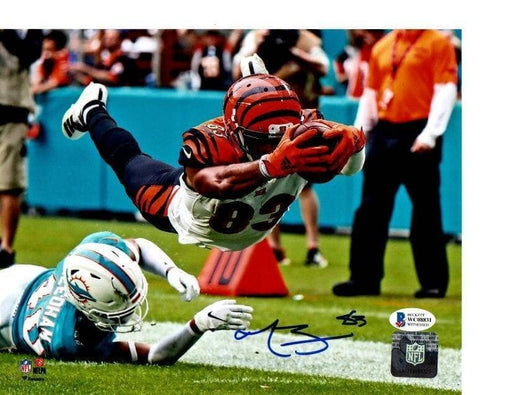 Tyler Boyd Signed Diving for End Zone 16x20 Photo - DAMAGED