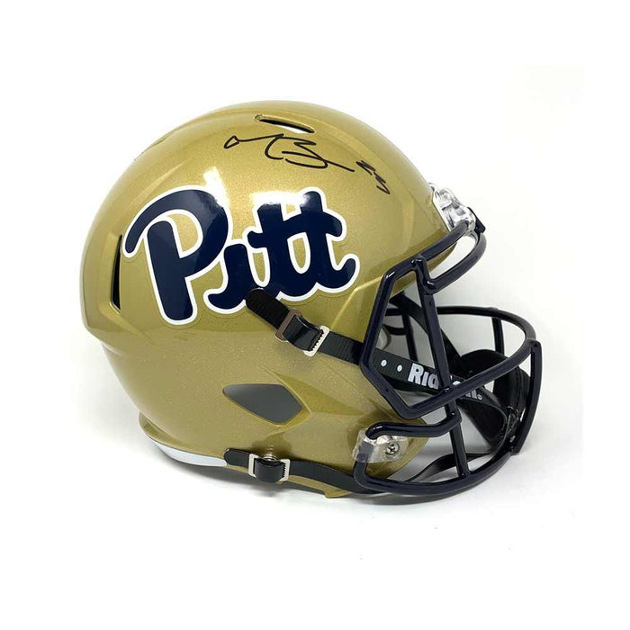 Tyler Boyd Signed PITT Full Sized Gold Speed Helmet