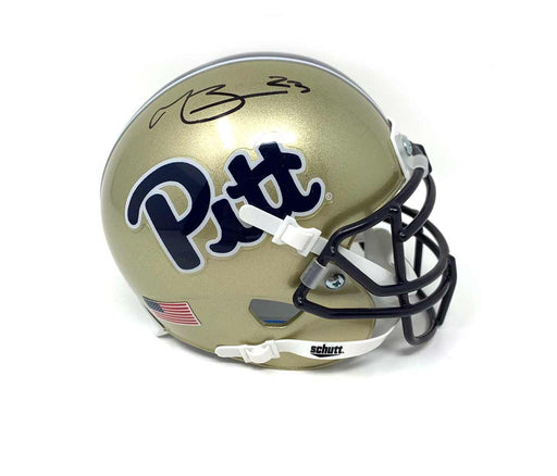 Tyler Boyd Signed PITT Gold Mini Helmet