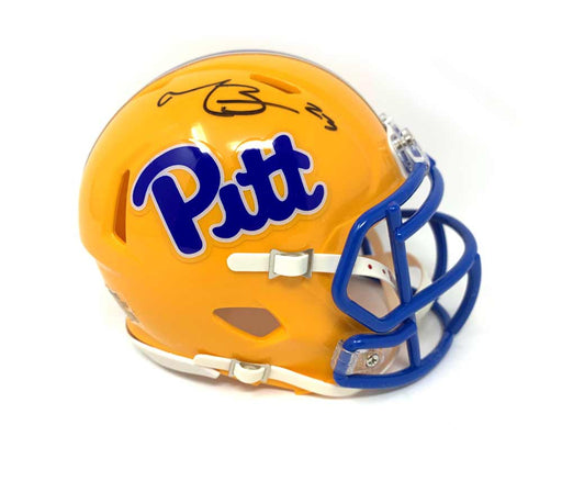 Tyler Boyd Signed PITT Yellow Speed Mini Helmet