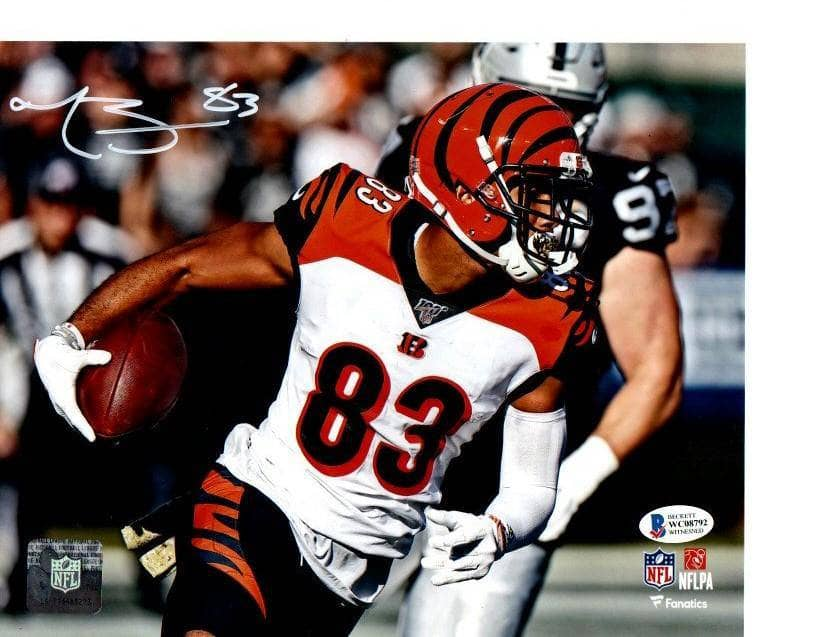 Tyler Boyd Signed Running with Football 8x10 Photo